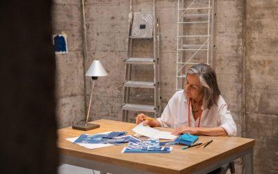 «La cadencia del cian» de Montse Campins en la Galería Santa & Cole